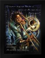 Trombone tunes: Framed Art Print by Fields, Wendy