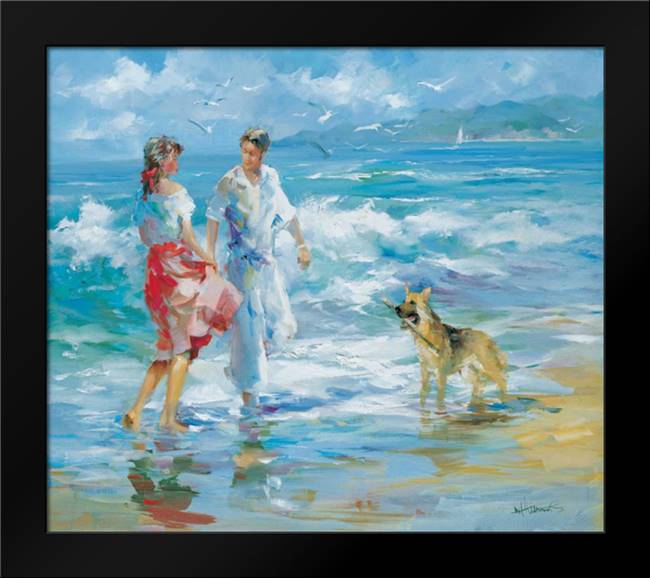 Happy family I: Framed Art Print by Haenraets, Willem