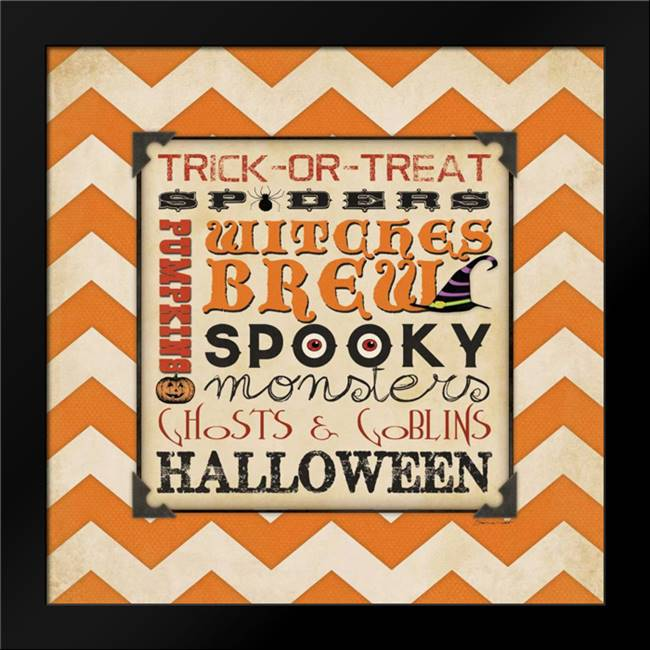 Halloween Type I: Framed Art Print by Marrott, Stephanie