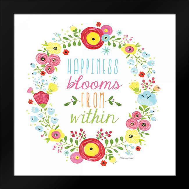Happiness Blooms: Framed Art Print by Marrott, Stephanie