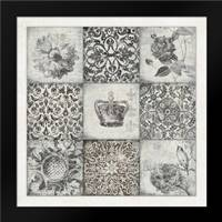 Black and White Nine Patch: Framed Art Print by Marrott, Stephanie