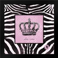 Zebra Crown I: Framed Art Print by Marrott, Stephanie