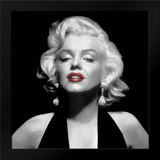 Halter Top Marilyn Red Lips: Framed Art Print by Consani, Chris