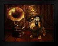 Steampunk Dog: Framed Art Print by Babette