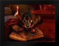 The book of Dogtalk: Framed Art Print by Babette