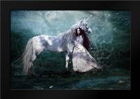 Faith of the Unicorn: Framed Art Print by Babette