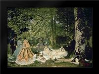 Luncheon on the Grass, 1865-66: Framed Art Print by Monet, Claude