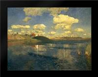 Lake Russia, 1900: Framed Art Print by Levitan, Isaac