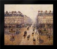 The Avenue De LOpera: Framed Art Print by Pissarro, Camille