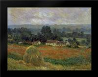Haystack at Giverny: Framed Art Print by Monet, Claude