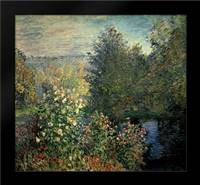 Quiet Corner in the Garden of Montgeron: Framed Art Print by Monet, Claude
