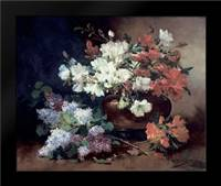 Still Life With Lilac: Framed Art Print by Cauchois, Eugene Henri