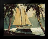 Sailboat, Santa Barbara: Framed Art Print by Pawla, Frederick