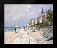 Beach at Trouville: Framed Art Print by Monet, Claude
