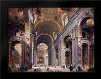 Interior Of St. Peters, Rome: Framed Art Print by Panini, Giovanni Paolo