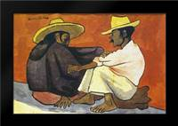 Pareja Indigena: Framed Art Print by Rivera, Diego