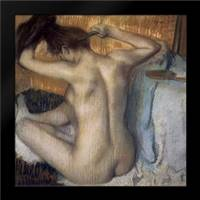 Woman Combing Her Hair: Framed Art Print by Degas, Edgar