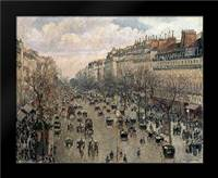 Boulevard Montmartre, Afternoon Sun, 1897: Framed Art Print by Pissarro, Camille
