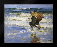 At The Beach: Framed Art Print by Potthast, Edward Henry