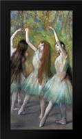 Green Dancers: Framed Art Print by Degas, Edgar