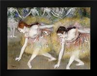 Dancers Bending Down: Framed Art Print by Degas, Edgar