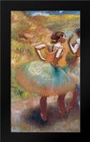 Two Dancers In Green Skirts: Framed Art Print by Degas, Edgar