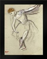 A Dancer Seen In Profile: Framed Art Print by Degas, Edgar