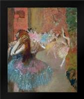 Scene De Ballet Or Balleteuses: Framed Art Print by Degas, Edgar