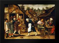 The Egg Dance: Framed Art Print by Bruegel, Pieter the Elder