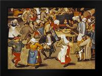 The Indoor Wedding Dance: Framed Art Print by Bruegel, Pieter the Elder
