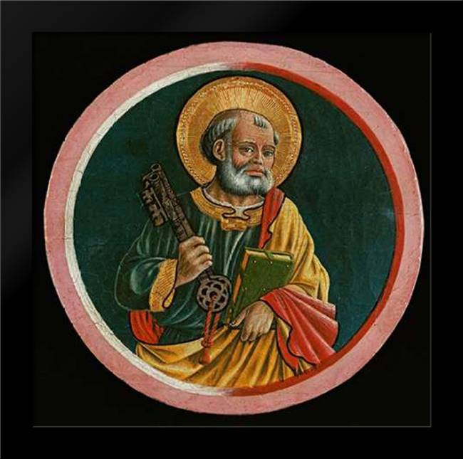Saint Peter: Framed Art Print by Caporali, Bartolomeo