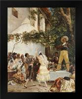 The Spanish Dancers: Framed Art Print by Clarin, Georges Jules Victor