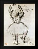 Backview of a Dancer: Framed Art Print by Degas, Edgar
