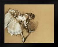 Dancer Adjusting Her Shoe: Framed Art Print by Degas, Edgar