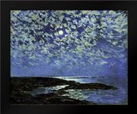 Moonlight, Isle of Shoals: Framed Art Print by Hassam, Childe