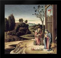 Birth of Jesus from the Pala Pesaro: Framed Art Print by Bellini, Giovanni