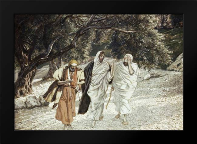 Disciples On The Road To Emmaus: Framed Art Print by Tissot, James Jacques