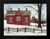 Lovers Knot Quilt Block Barn: Framed Art Print by Jacobs, Billy