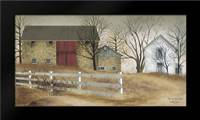 Old Stone Barn: Framed Art Print by Jacobs, Billy