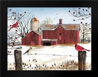 Winter Friends: Framed Art Print by Jacobs, Billy