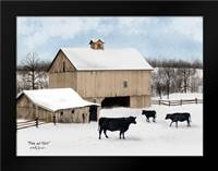 Black and White: Framed Art Print by Jacobs, Billy