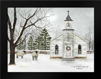 I Heard the Bells on Christmas Day: Framed Art Print by Jacobs, Billy
