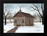 Little Brown Church: Framed Art Print by Jacobs, Billy