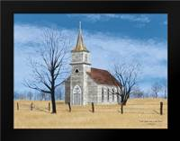 Little Church on the Prairie: Framed Art Print by Jacobs, Billy