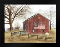 Flag Barn: Framed Art Print by Jacobs, Billy