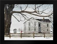 A Little Snow House: Framed Art Print by Jacobs, Billy