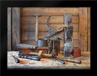 Grand Dads Work Bench: Framed Art Print by Jacobs, Billy