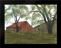 The Old Brown Barn: Framed Art Print by Jacobs, Billy