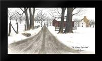 The Wintery Road Home: Framed Art Print by Jacobs, Billy
