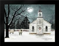 I Heard the Bells on Christmas Day - Darker Sky: Framed Art Print by Jacobs, Billy